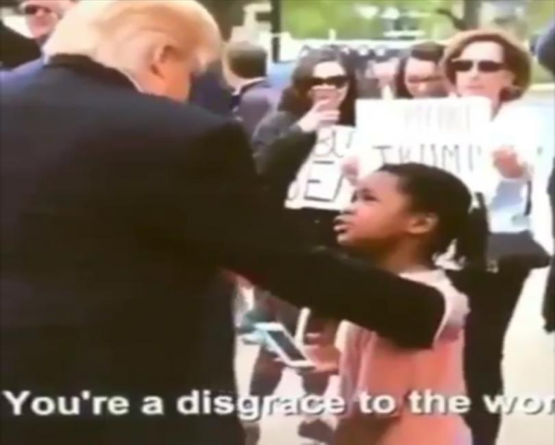 Little Girl Rebukes Trump