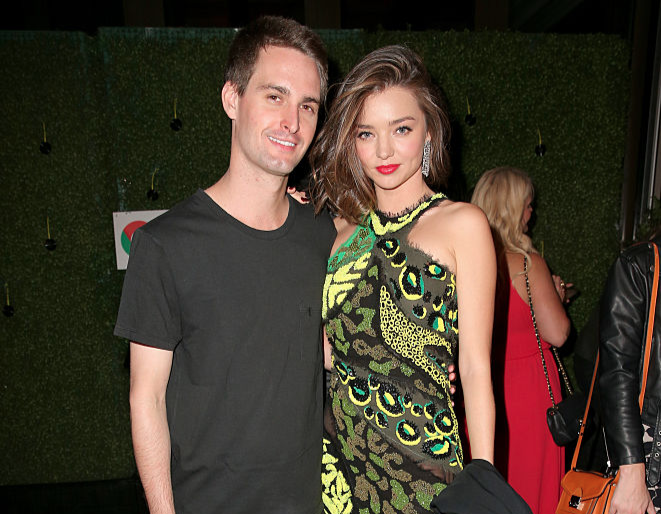 Miranda Kerr and Snapchat founder tie the knot