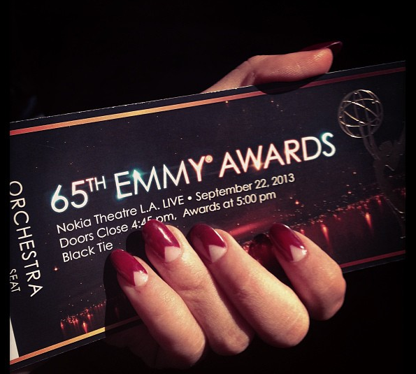 Sarah Hyland Manicure Emmy Awards 2013