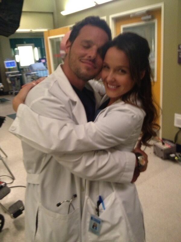 Grey's Anatomy stars Camilla Luddington and Justin Chambers