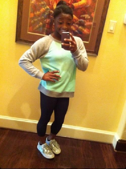 U.S.A. Gymnastics representative Simone Biles from Spring, Texas.