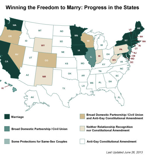 States Allowing Same Sex Marriages 99