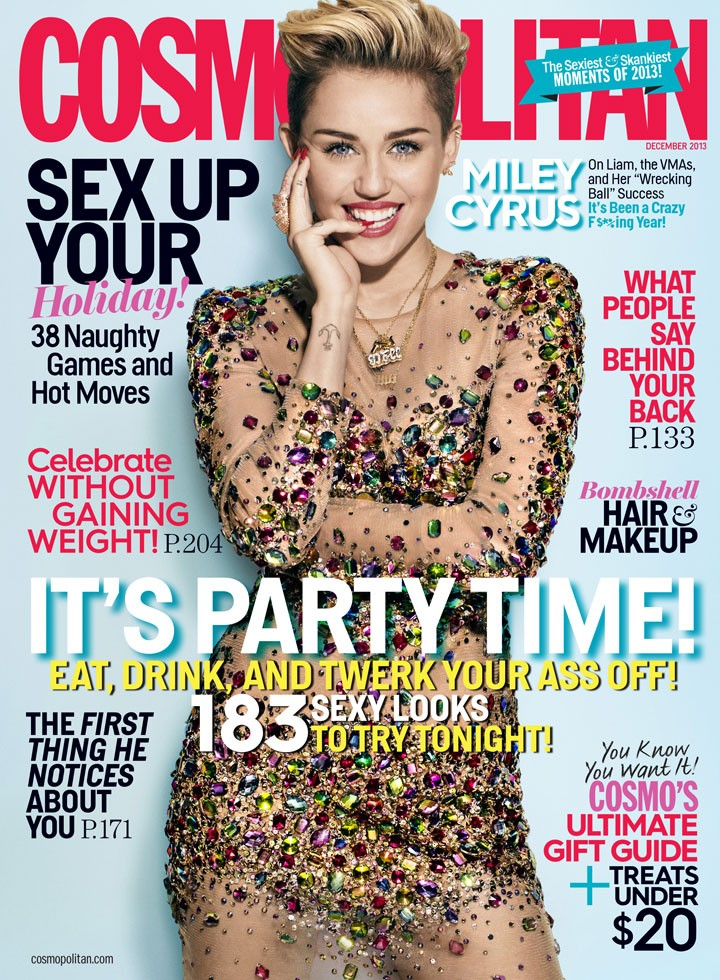Miley Cyrus Covers Cosmopolitan December 2013