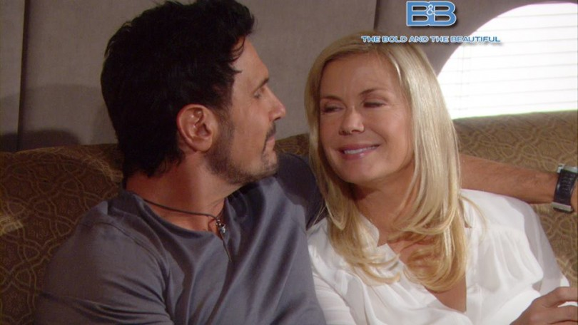 Bill (Don Diamont) and Brooke (Katherine Kelly Lang) flying to Aspen on 'The Bold and the Beautiful'