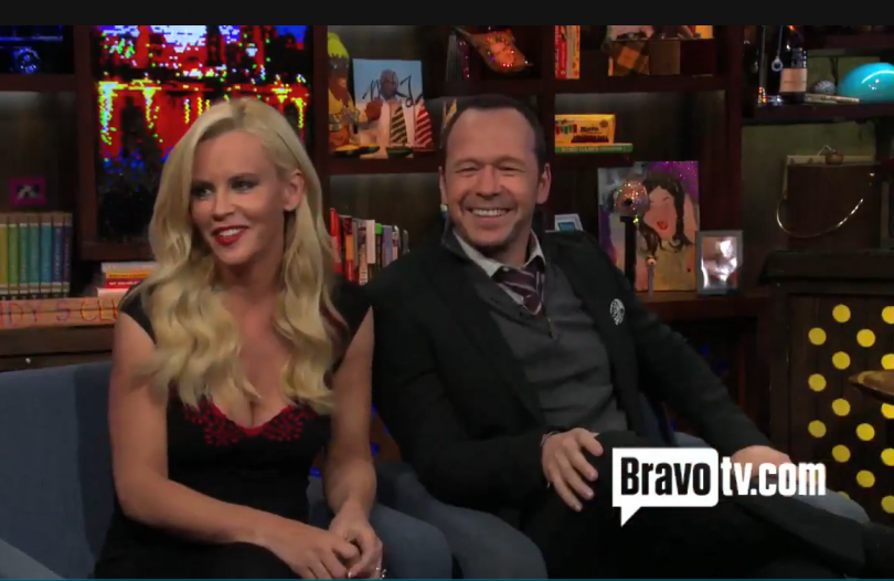 "Jenny McCarthy & Donnie Wahlberg on ""Watch What Happens Live"" Oct. 2013"