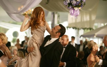 Vince Vaughn and Isla Fisher in 'Wedding Crashers,