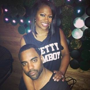 Kandi Burruss and fiancee Todd Tucker