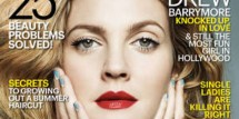 Drew Barrymore on the cover of Marie Claire's February 2014 issue