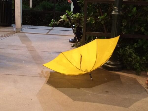 The iconic yellow umbrella on 'How I Met Your Mother'