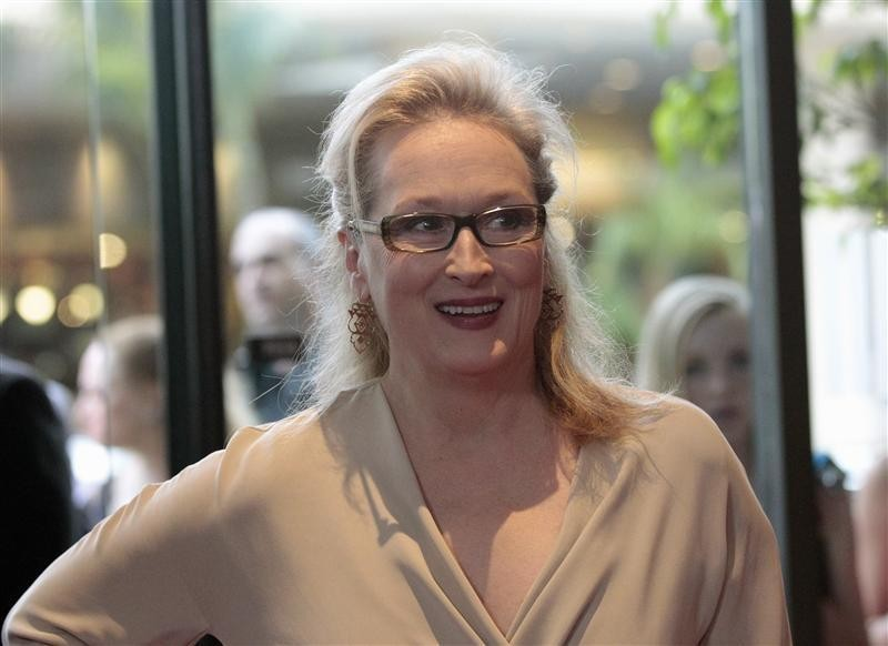 "Actress Meryl Streep poses at the Women In Film Los Angeles 2012 Crystal and Lucy Awards themed ""Power In Numbers"" in Beverly Hills, California June 12, 2012."