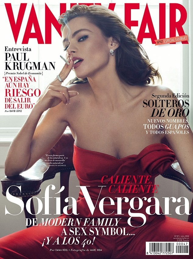 Sofia Vergara on the cover of Vanity Fair July 2012 issue