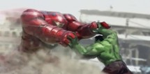 Iron Man vs. Hulk in Avengers 2 Concept Art