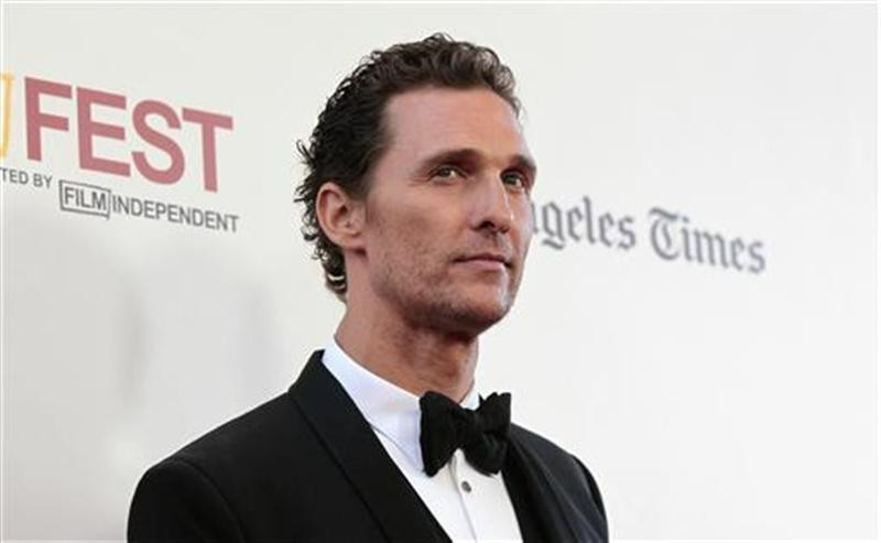 "Cast member Matthew McConaughey poses at the premiere of ""Magic Mike"" during the closing night of the Los Angeles Film Festival at the Regal Cinemas in Los Angeles, California June 24, 2012."