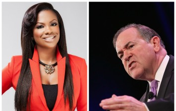 Kandi Burruss and Mike Huckabee