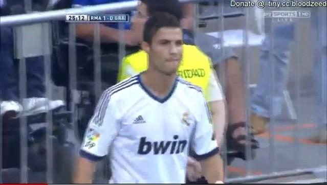 Cristiano Ronaldo opened the score of Real Madrid vs Granada on Sunday night but refused to celebrate.