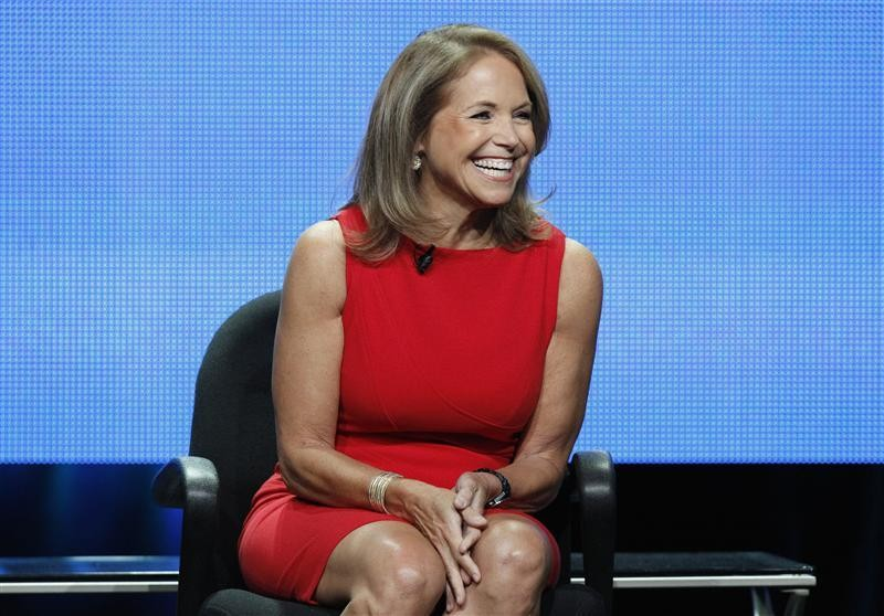 "Host Katie Couric attends a panel for ""Katie"" during the Disney/ABC Television Group portion of the Television Critics Association Summer press tour in Beverly Hills, California July 26, 2012."