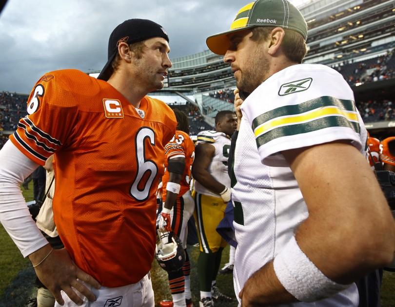 Jay Cutler (Bears) & Aaron Rodgers (Packers)
