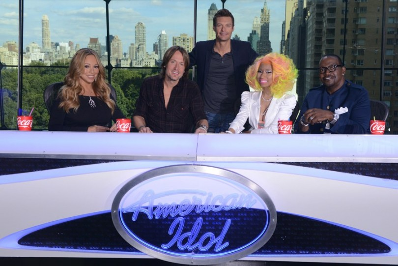Mariah Carey, Keith Urban, Ryan Seacrest, Nicki Minaj and Randy Jackson