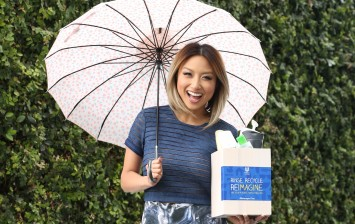 Jeannie Mai joins the Unilever 'Rinse. Recycle. Reimagine.' movement and shows off how with just a rinse and recycle empty bath and beauty bottles can take on new life and return as new items.