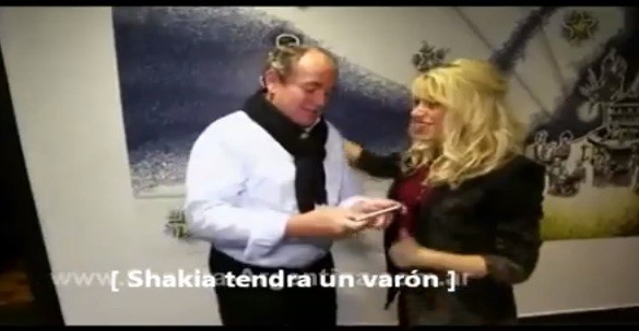 Shakira appeared in an interview with German TV station RTL posted on YouTube.