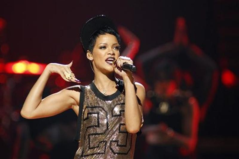 Rihanna performs during the 2012 iHeart Radio Music Festival at the MGM Grand Garden Arena in Las Vegas, Nevada September 21, 2012.