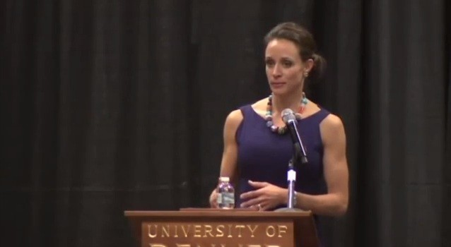 A speech delivered by David Petraeus' mistress Paula Broadwell at the University of Denver last month leaked sensitive information about the attack in Libya on Sept. 11.