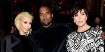 Kim Kardashian, Kanye West & Kris Jenner
