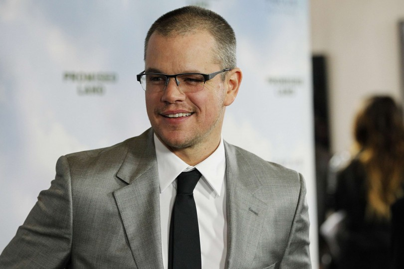 "Cast member Matt Damon poses at the premiere of ""Promised Land"" at the Directors Guild of America (DGA) in Los Angeles, California December 6, 2012. The movie opens in the U.S. on January 4."