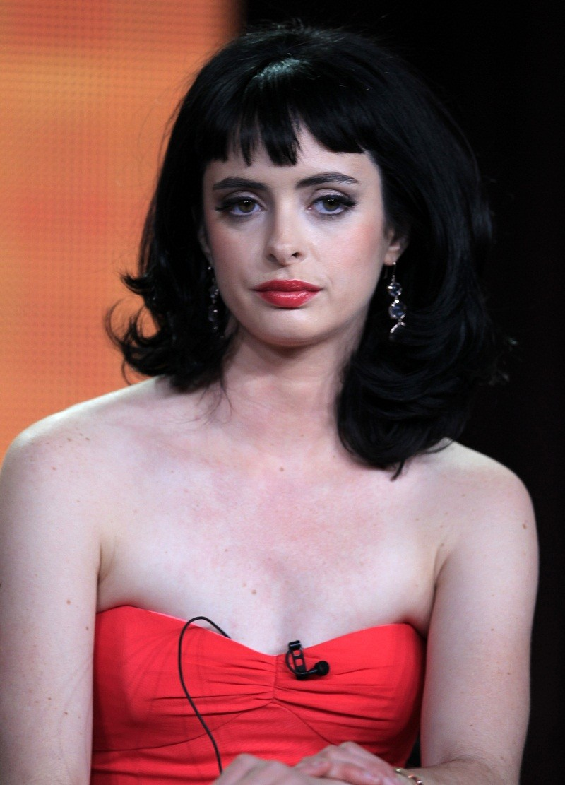 "Actress Krysten Ritter of the show ""Don't Trust the B-- In Apartment 23"" takes part in a panel session at the ABC Winter TCA Press Tour in Pasadena, California January 10, 2012."