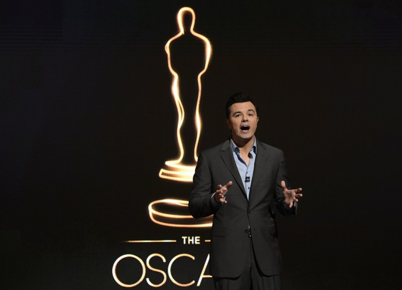 Host Seth MacFarlane speaks at the 85th Academy Awards nominee announcements in Beverly Hills, California January 10, 2013. The Oscars will be presented Sunday February 24.