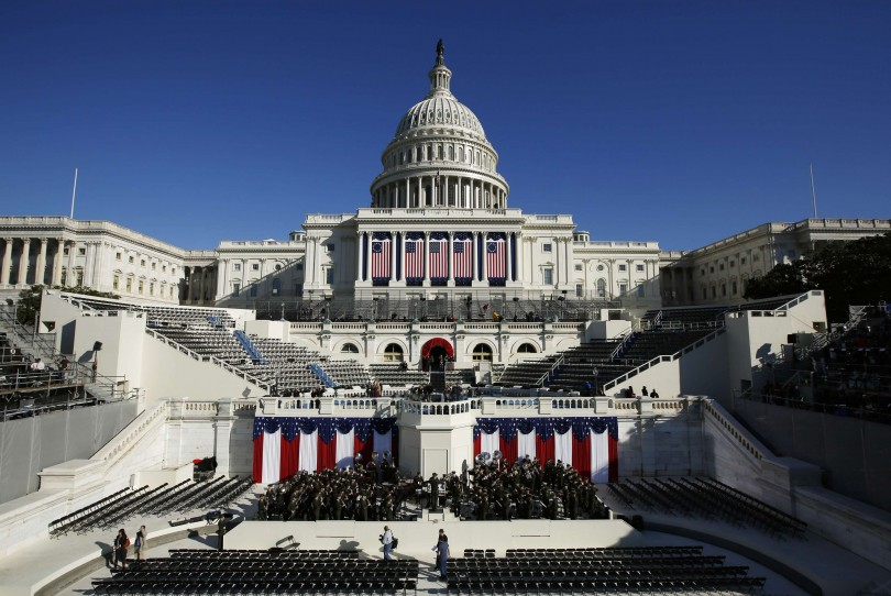 The West Front of the U.S. Capitol is pictured on the eve of the second inauguration of U.S. President Barack Obama in Washington, January 20, 2013.