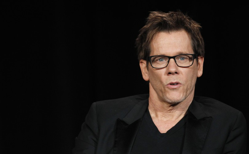 "Cast member Kevin Bacon speaks at a Fox panel for the television series ""The Following"" at the 2013 Winter Press Tour for the Television Critics Association in Pasadena, California January 8, 2013."