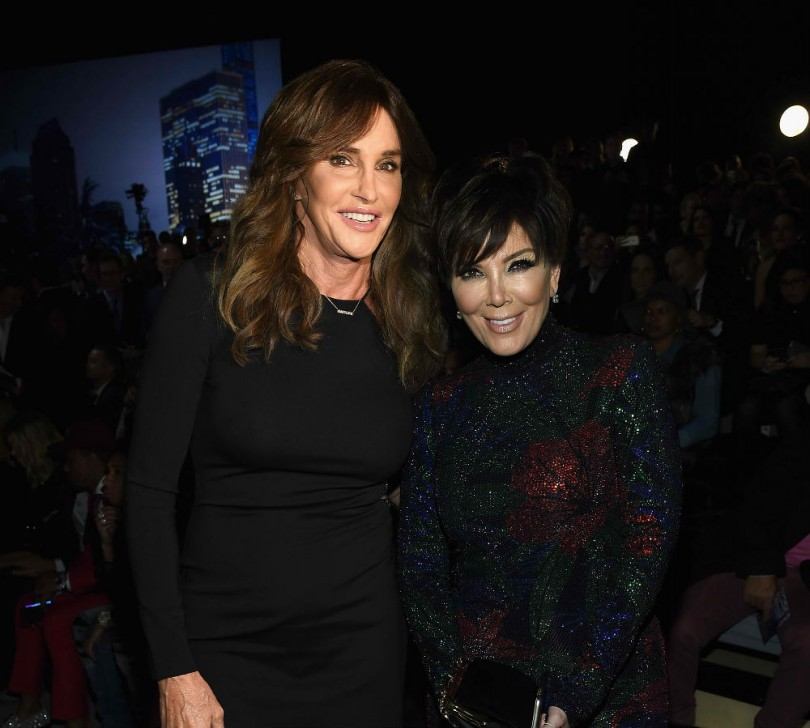 Caitlyn Jenner and Kris Jenner attend the 2015 Victoria's Secret Fashion Show at Lexington Avenue Armory on November 10, 2015 in New York City.