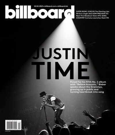 Justin Bieber on the cover of Billboard magazine