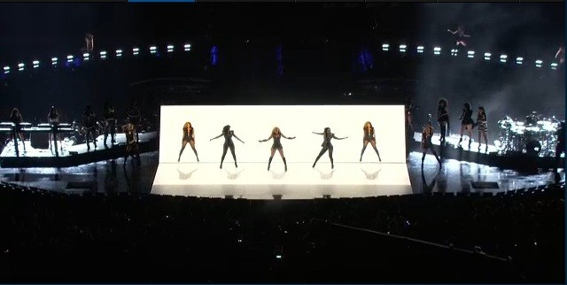 Beyonce performs at the halftime show of the Super Bowl 2013 in New Orleans on February 3, 2013.