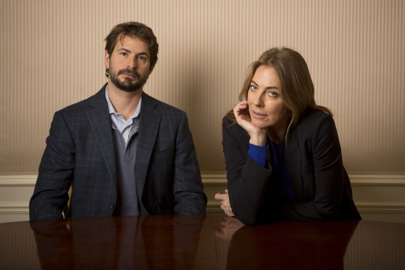 Screenwriter Mark Boal and Director Kathryn Bigelow pose for photos for their new film 'Zero Dark Thirty' in New York December 4, 2012.